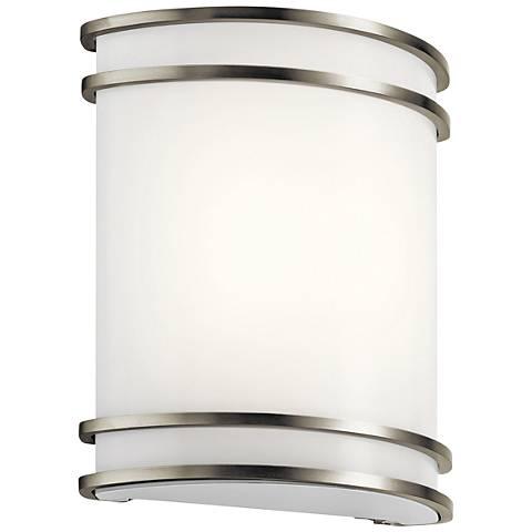 "Kichler Harari 10 3/4"" High Brushed Nickel LED Wall Sconce"