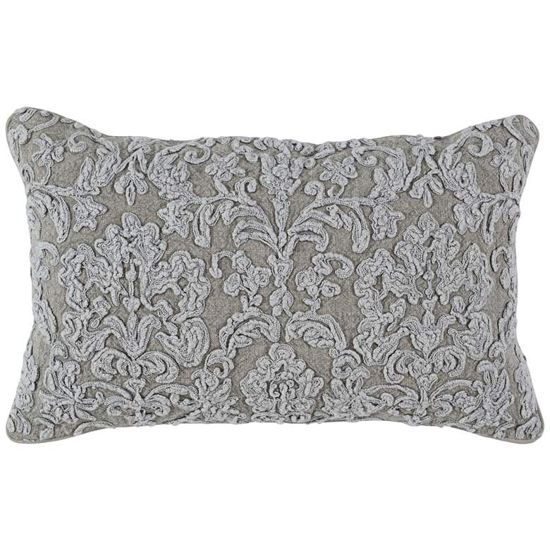 "Giselle Natural 26"" x 14"" Throw Pillow"
