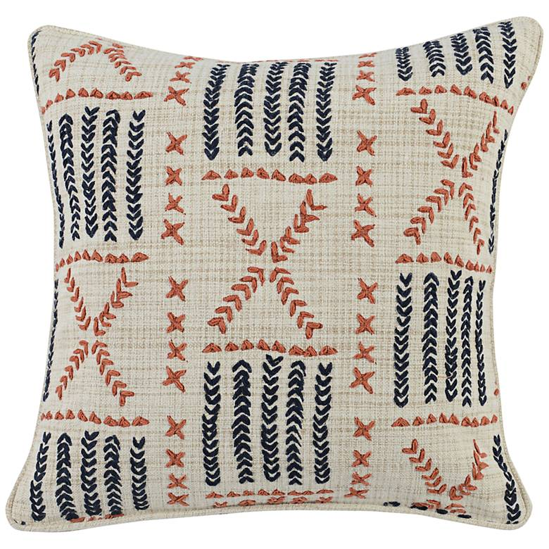"Ezra Multi-Color 22"" Square Throw Pillow"