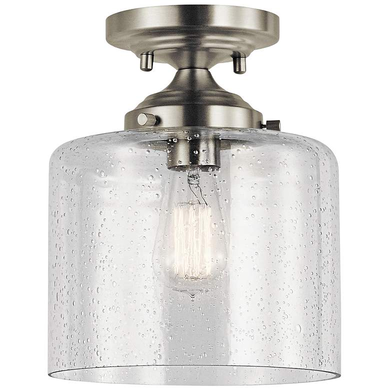 "Kichler Winslow 8 1/2"" Wide Brushed Nickel Ceiling Light"