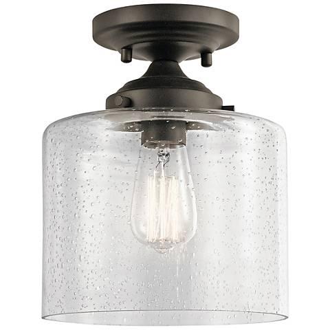 "Kichler Winslow 8 1/2"" Wide Olde Bronze Ceiling Light"
