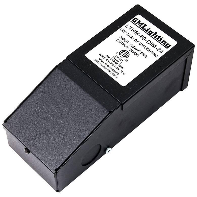 "2.59"" Wide Black 60-Watt LED Dimmable Power Supply"