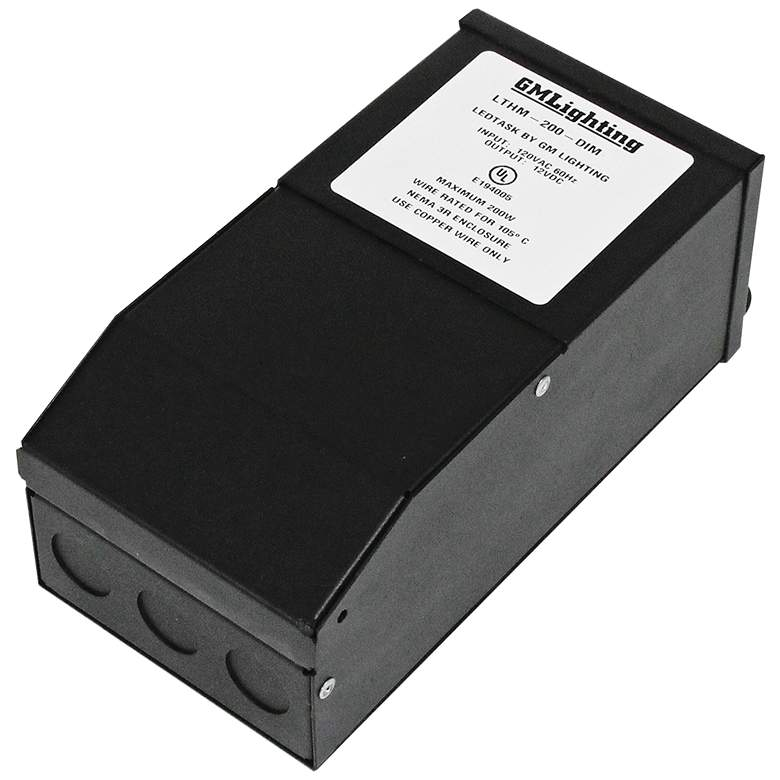 """Fair 4.1"""" Wide Black 24VDC 200W LED Dimmable Power Supply"""