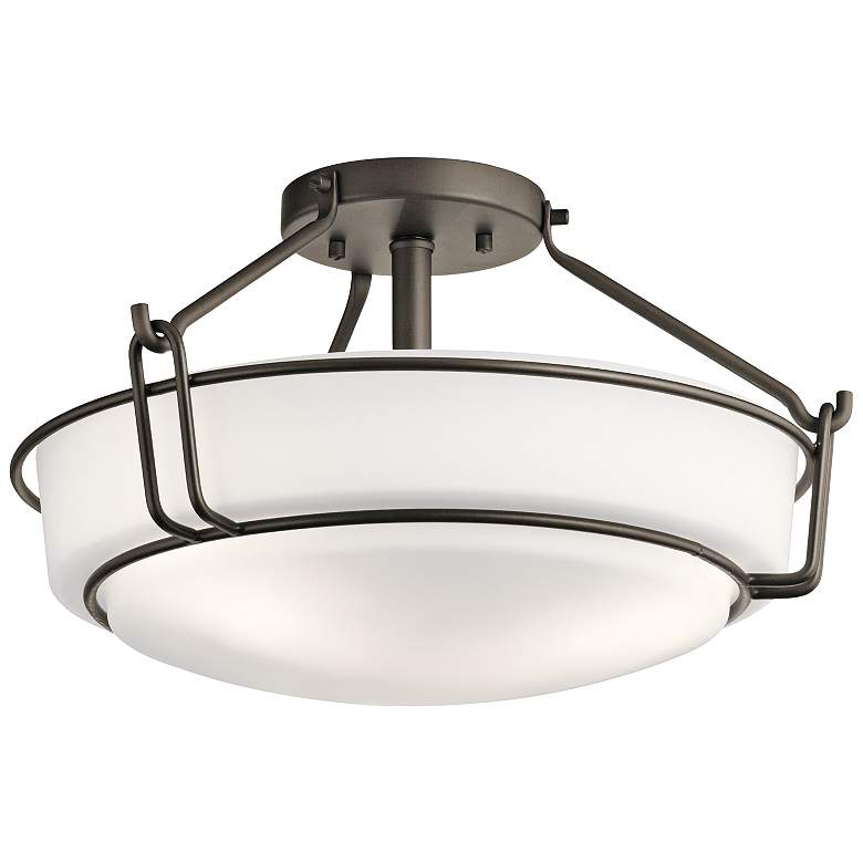 "Kichler Alkire 16 1/2"" Wide Olde Bronze Ceiling Light"