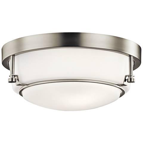 """Kichler Belmont 12 1/2"""" Wide Brushed Nickel Ceiling Light"""
