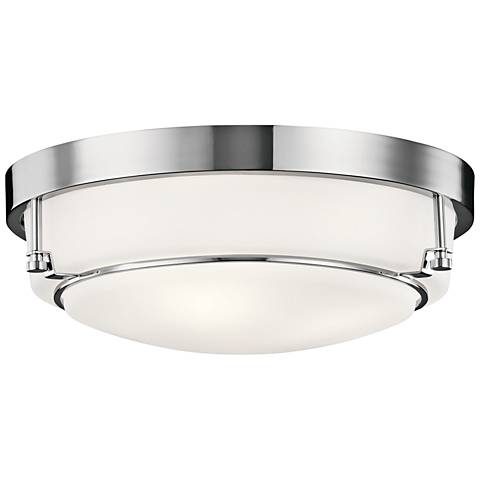 "Kichler Belmont 15 1/2"" Wide Chrome Ceiling Light"