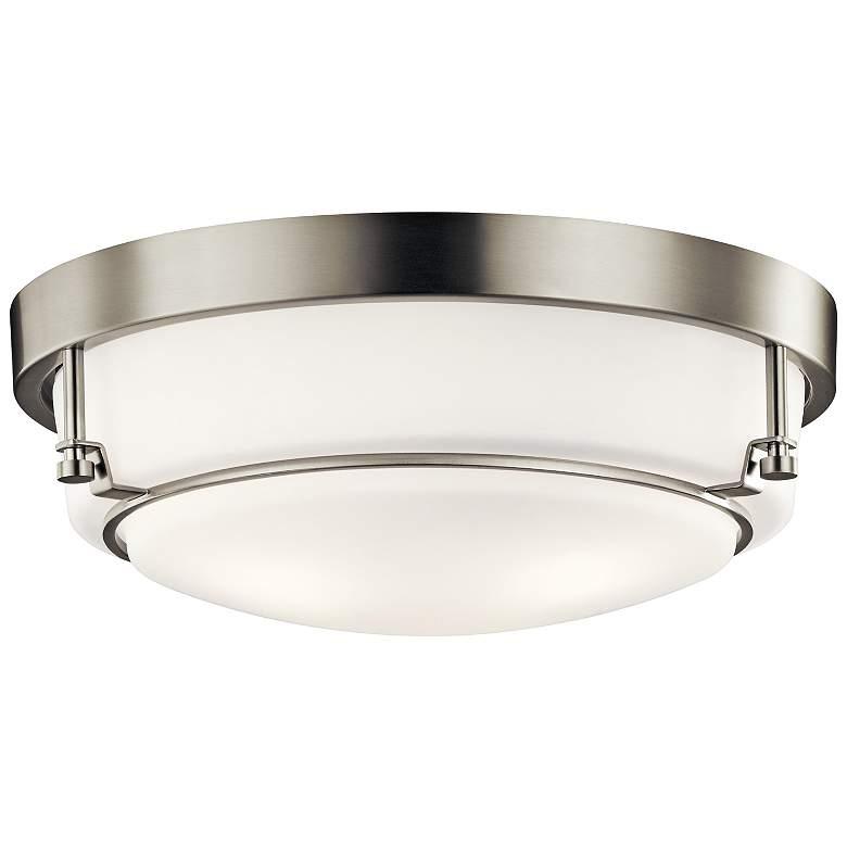 """Kichler Belmont 15 1/2"""" Wide Brushed Nickel Ceiling Light"""