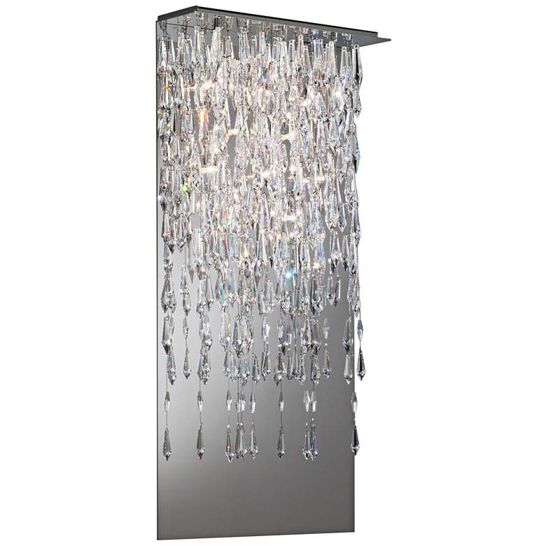 "Crystalline Icicles 26"" High Stainless Steel Wall Sconce"