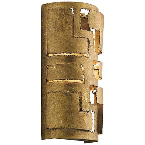 "Kichler Shefali 13 3/4"" High Pharaoh Gold Wall Sconce"