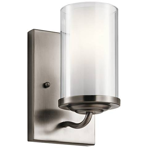 """Kichler Lorin 7 3/4"""" High Classic Pewter Wall Sconce"""