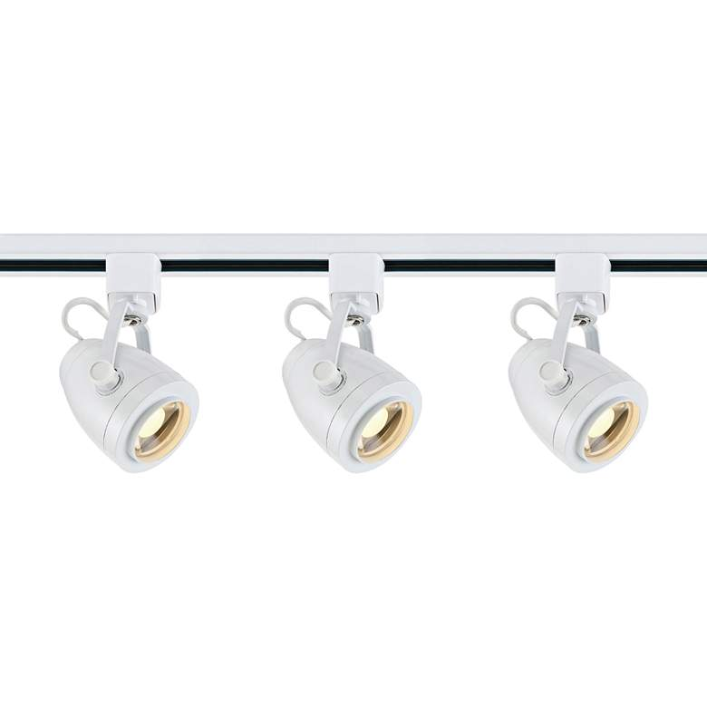 Satco Lyons 3-Light White Pinch Back LED Track Kit