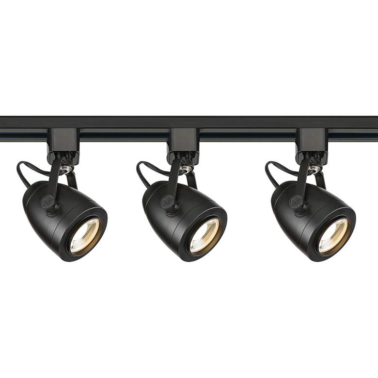 Satco Lyons 3-Light Black Pinch Back LED Track