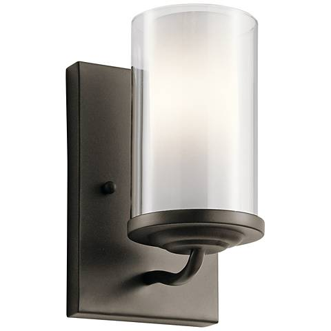 "Kichler Lorin 7 3/4"" High Olde Bronze Wall Sconce"