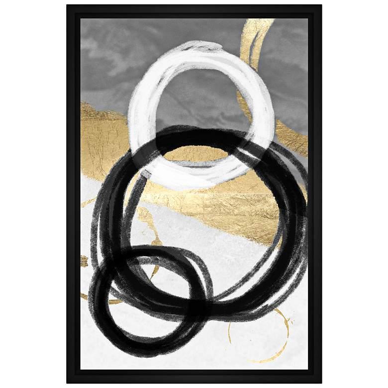 """Circular Chain 21 3/4"""" High Framed Canvas Wall Art"""