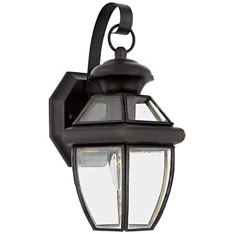 "Quoizel Newbury 12 1/2"" High Small Outdoor Wall Light"