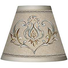 Clip on chandelier lamp shades lamps plus canada orleans crest giclee set of four shades 3x6x4 34 clip on mozeypictures Image collections