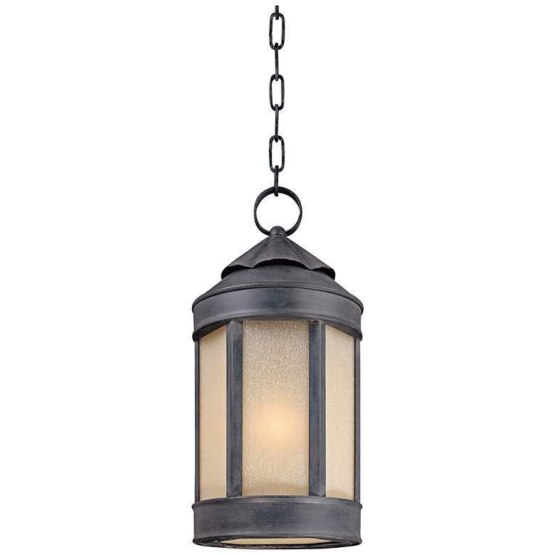 """Anderson Forge 18 1/2""""H Antique Iron Outdoor Hanging Light"""