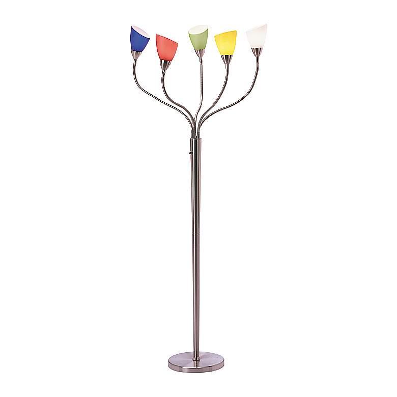 Lite Source Uni Multi Color Gooseneck Floor Lamp