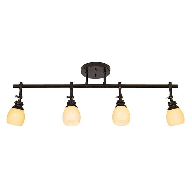 Elm Park 4-Head Bronze Complete Track Light Kit