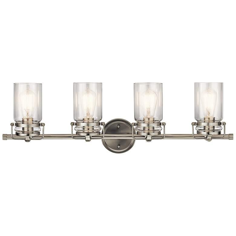 "Kichler Brinley 32 1/4""W Brushed Nickel 4-Light Bath Light"