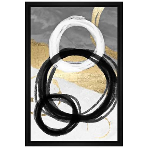 Circular Chain High Framed Canvas Wall Art
