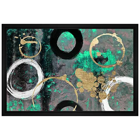 """Swirls 31 3/4"""" Wide Framed Canvas Wall Art"""
