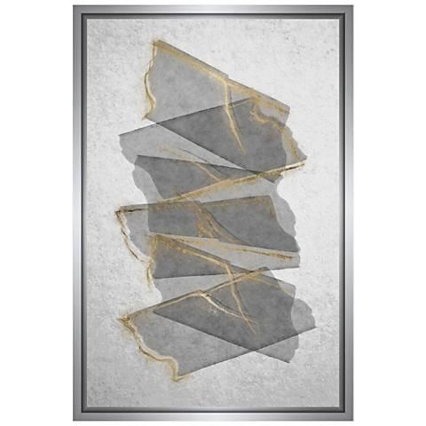 "Gray Rising 31 3/4"" High Framed Canvas Wall Art"