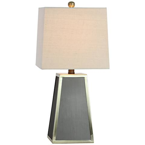 Addison Gray and Polished Brass Accent Table Lamp
