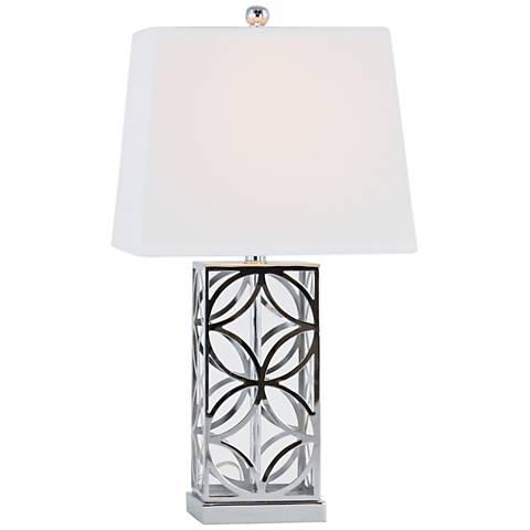 Jillian Chrome Plated Table Lamp