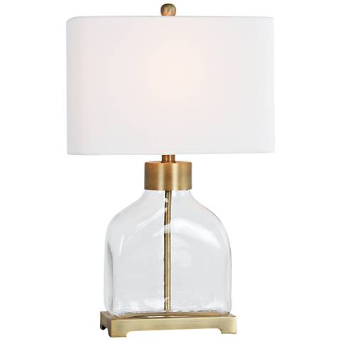 Lorina Gold and Clear Glass Table Lamp