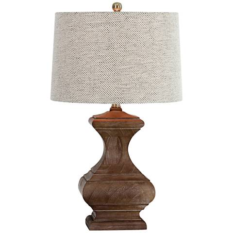 Romilly Chestnut Brown Wood Table Lamp