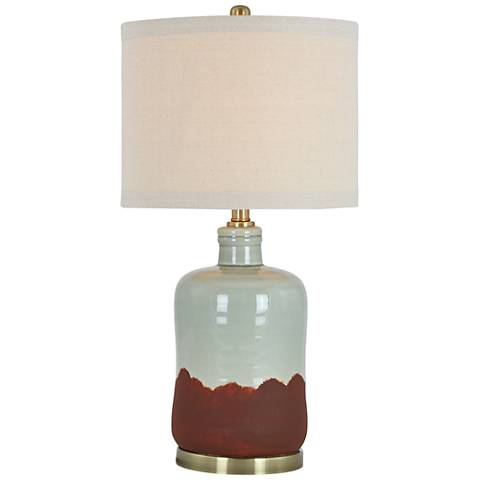 Julian Green and Matte Terracotta Ceramic Table Lamp