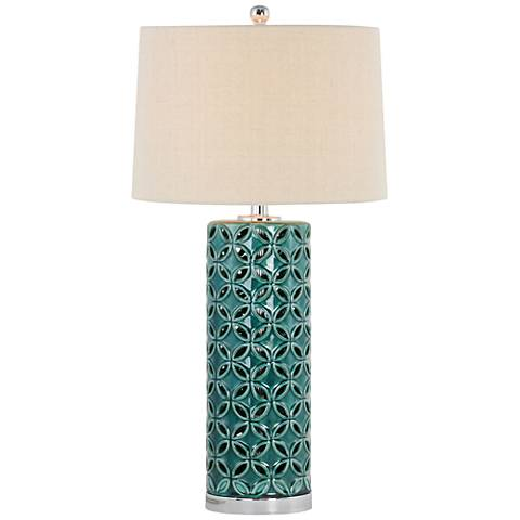 Antoinette Blue-Green Ceramic Table Lamp
