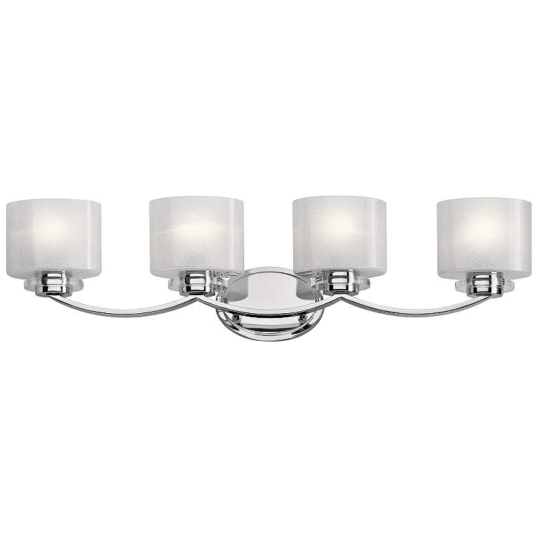 "Kichler Archer 33 1/4"" Wide Chrome 4-Light Bath Light"