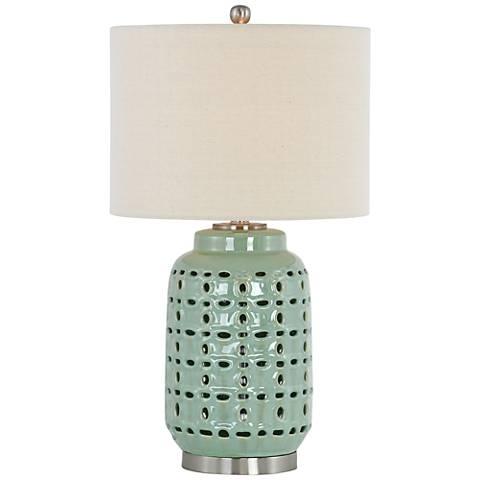 Nanette Light Green Ceramic Table Lamp