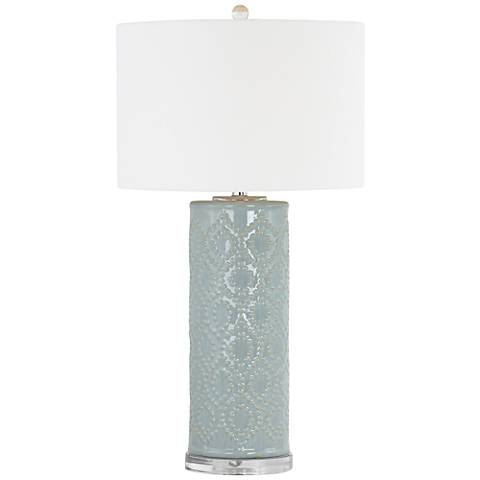 Marcy Light Blue Ceramic Table Lamp