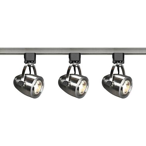 Satco Lyons 3-Light Brushed Nickel Pinch Back LED Track Kit