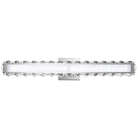 "Schonbek Dionia 26""W Stainless Steel LED Bath Light"