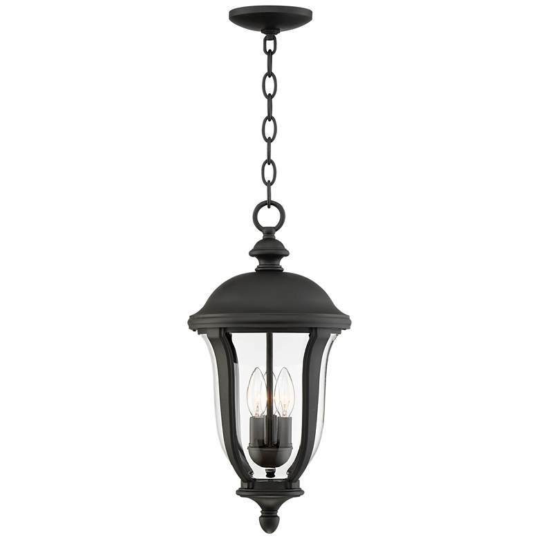 "Park Sienna 20"" High Black Outdoor Hanging Light"