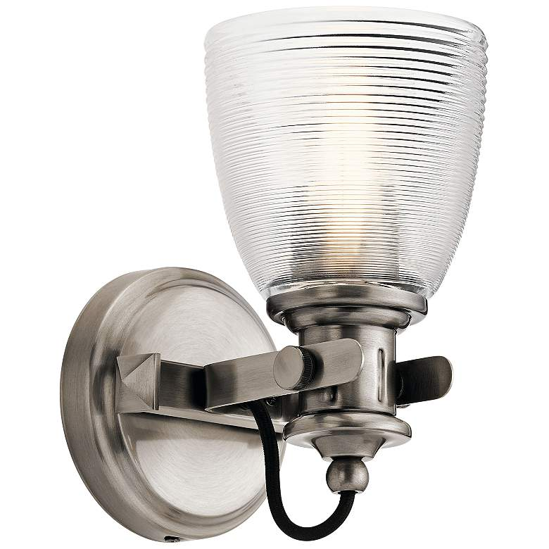"""Kichler Flagship 9 1/2"""" High Classic Pewter Wall Sconce"""