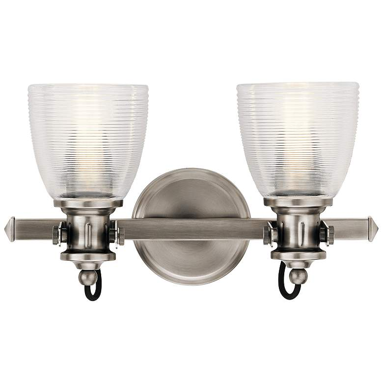 """Kichler Flagship 9 1/2""""H Classic Pewter 2-Light Wall Sconce"""