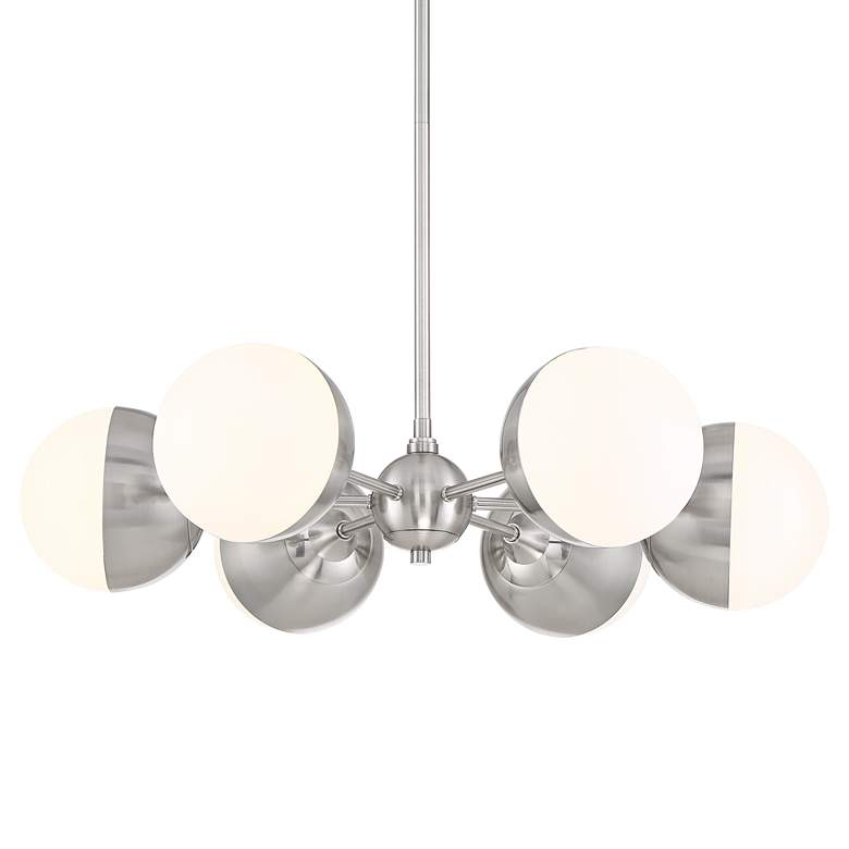 "Lovel 31 1/4"" Wide Brushed Nickel 6-Light LED Pendant"