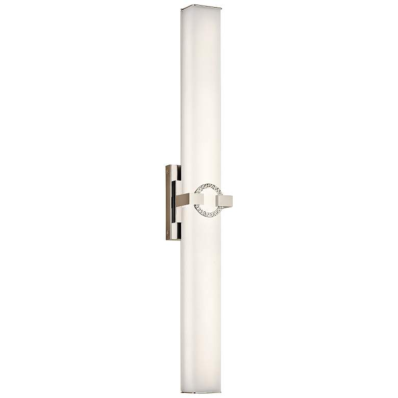 "Kichler Bordeaux 32"" Wide Polished Nickel LED Bath Light"