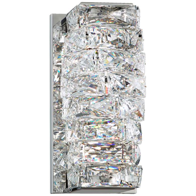 """Schonbek Glissando 9 3/4""""H Stainless Steel LED Wall Sconce"""