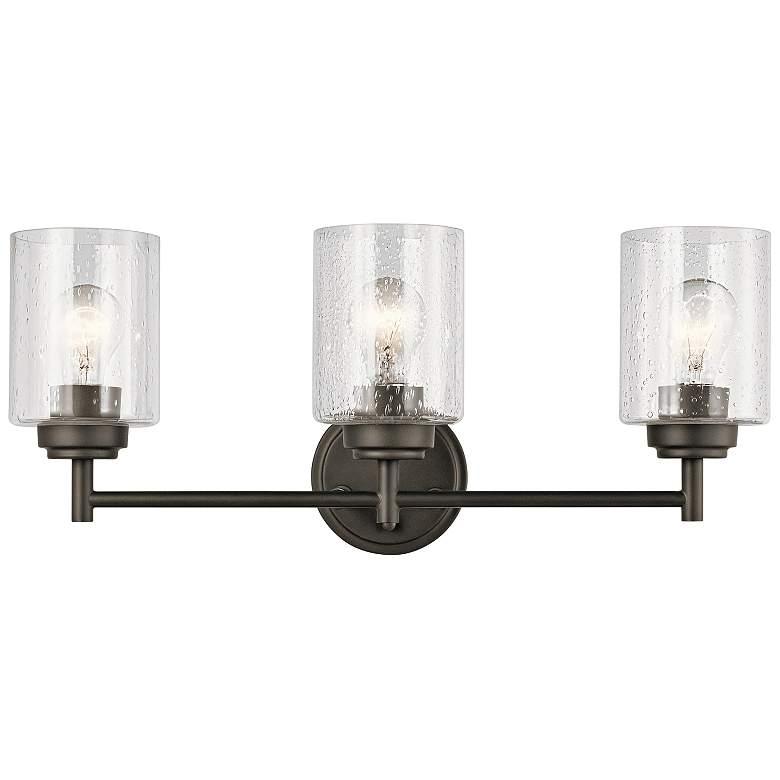 "Kichler Winslow 21 1/2"" Wide Olde Bronze 3-Light Bath Light"