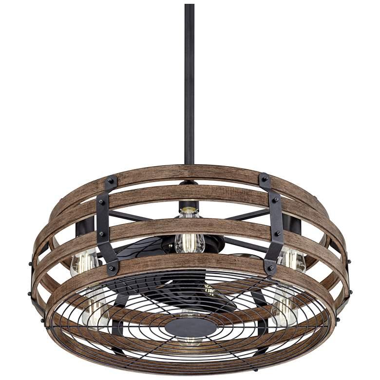 "26"" Casa Vieja Tundra Wood Finish LED Ceiling Fan"