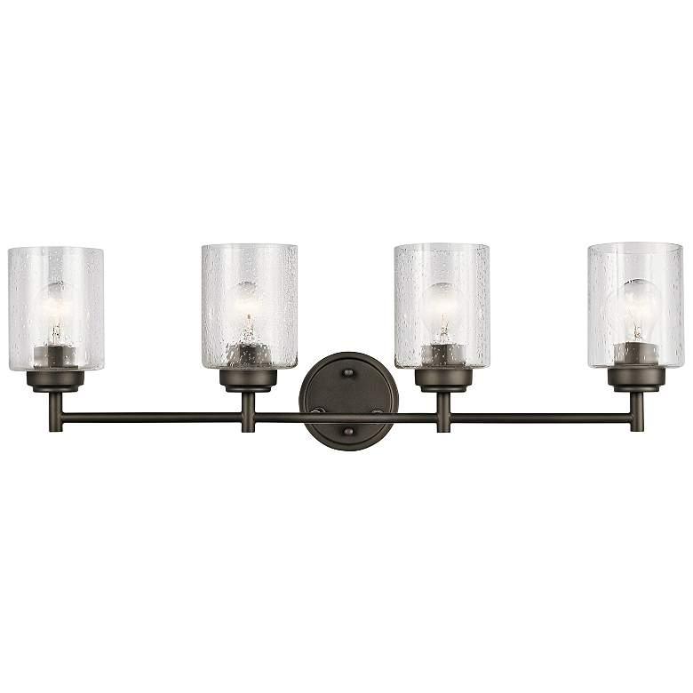 "Kichler Winslow 30"" Wide Olde Bronze 4-Light Bath Light"