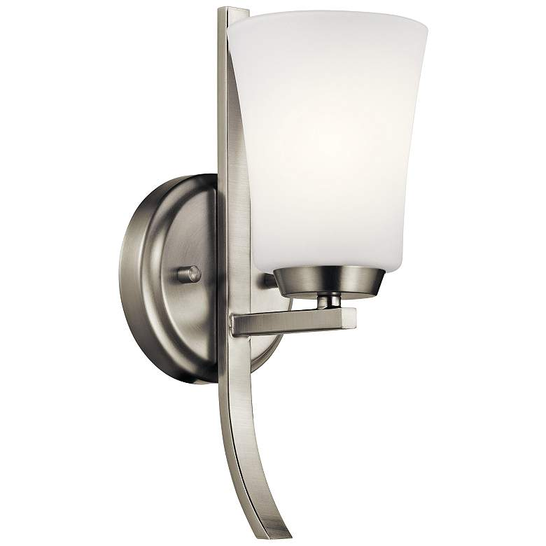 """Kichler Tao 12 1/2"""" High Brushed Nickel Wall Sconce"""
