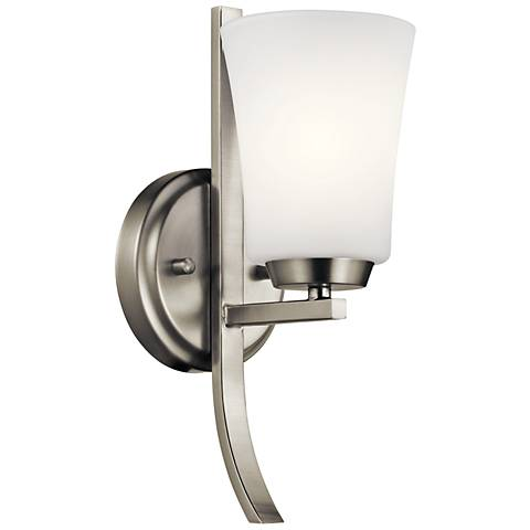 "Kichler Tao 12 1/2"" High Brushed Nickel Wall Sconce"