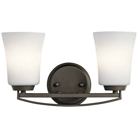 "Kichler Tao 8"" High Olde Bronze 2-Light Wall Sconce"